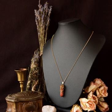 Collier sculpté mookaite «La Branche des Possibles»