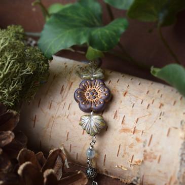 Compagnons de printemps – bracelet «Esprit d'Ostara» argenté – verre tchèque